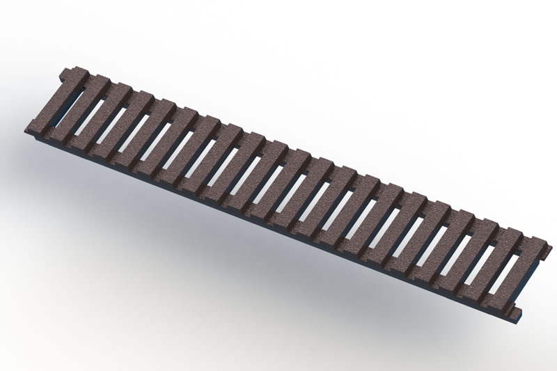 METRO 9057-4 trench grate